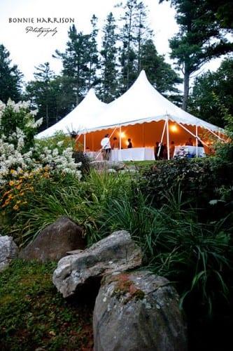 tent from garden