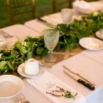 garland on long table