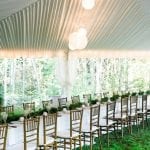 tent with liner and chavari chairs