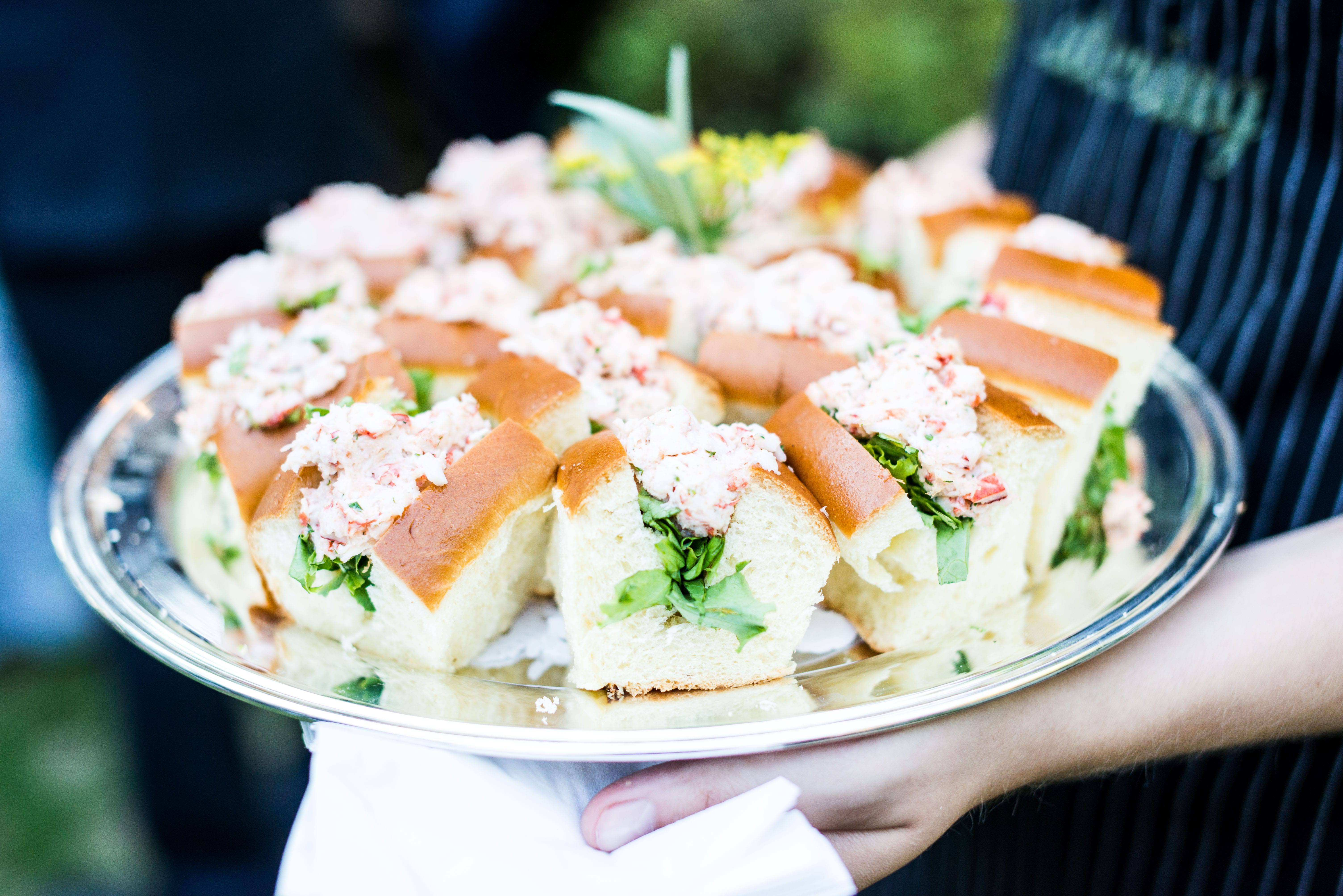 mini lobster rolls   business catering services