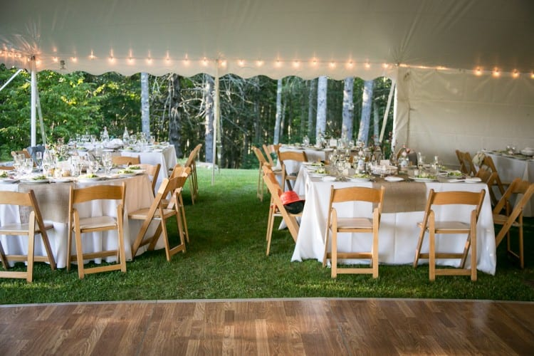 casual tented wedding