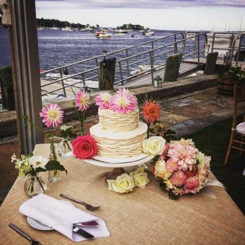 wedding ruffle cake