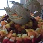 swan on fruit display