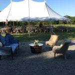 Summer wedding casual seating