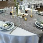 grey and white French's Point wedding