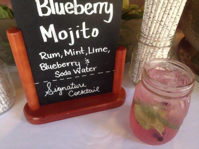 maine blueberry mojito