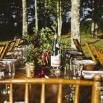 Summer Camp Wedding Farm Tables