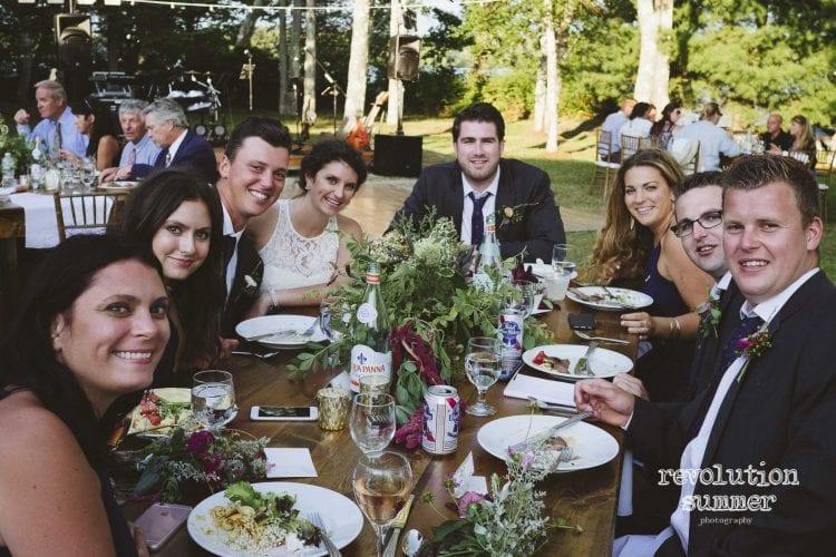 Summer Wedding Farm Tables