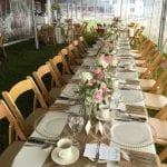 outdoor wedding tables