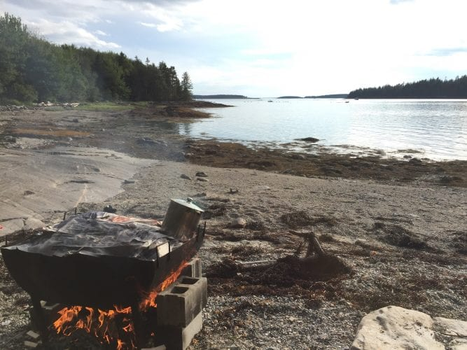 lobster bake on beach