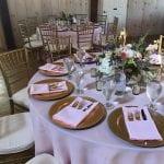 round wedding table details
