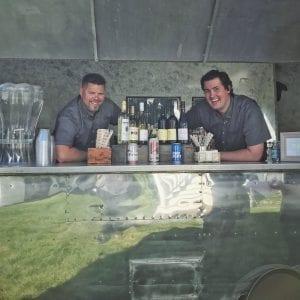 bartenders in airstream