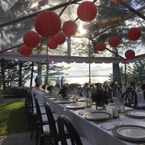 wedding decor outdoors