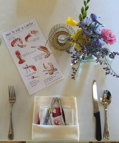 lobster place setting