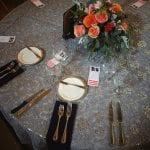 decorative round wedding table