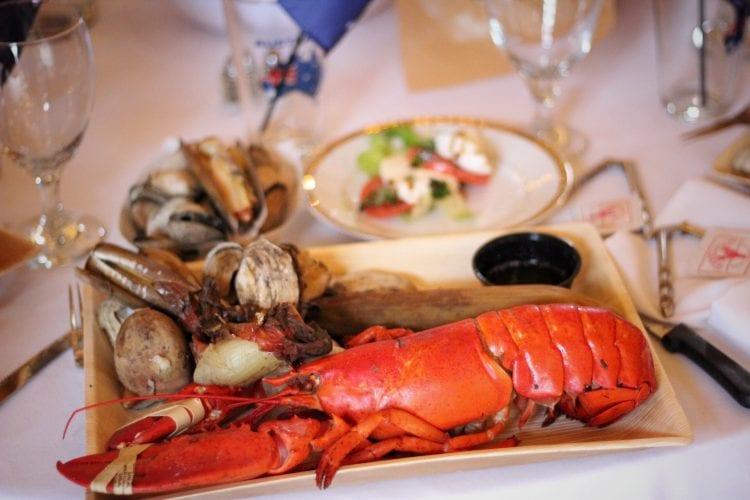 plated lobster bake
