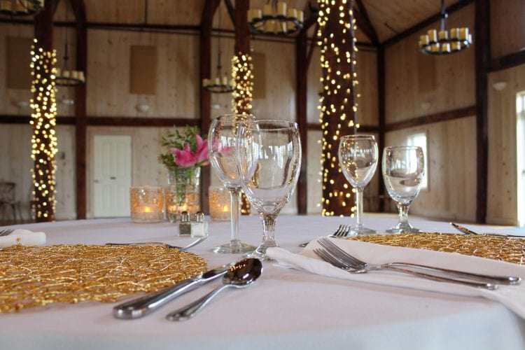 close up of wedding table details